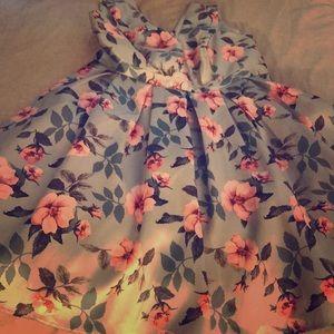 Plus size midi fit & flare floral dress UK24 US20